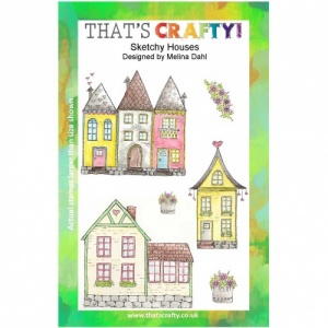 That's Crafty! Clear Stamp Set - Sketchy Houses