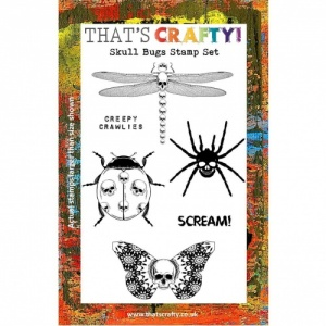 That's Crafty! Clear Stamp Set - Skull Bugs