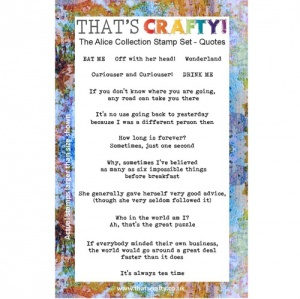 That's Crafty! Clear Stamp Set - The Alice Collection - Quotes