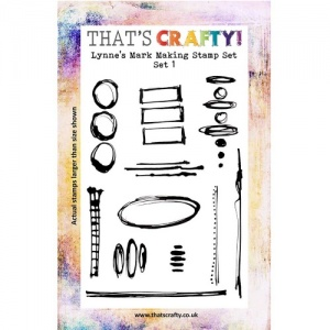 That's Crafty! Clear Stamp Set - Lynne's Mark Making Stamps - Set 1