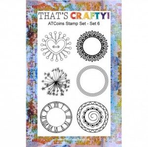 That's Crafty! Clear Stamp Set - ATCoins Stamp Set - Set 6