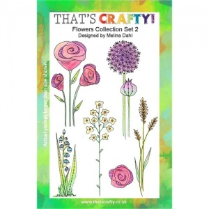 That's Crafty! Clear Stamp Set - Flowers Collection - Set 2