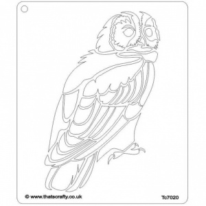 That's Crafty! 6.5ins x 7.5ins Stencil - Owl - TC7020
