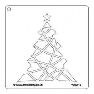 That's Crafty! 6ins x 6ins Stencil - Christmas Tree - TC6019