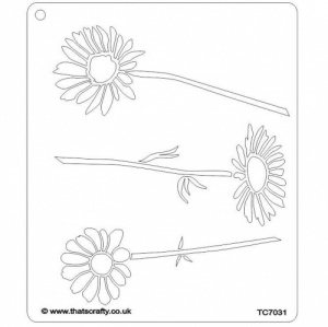 That's Crafty! 6.5ins x 7.5ins Stencil - Daisies - TC7031