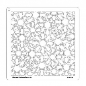 That's Crafty! 8ins x 8ins Stencil - Daisy Background - TC8019
