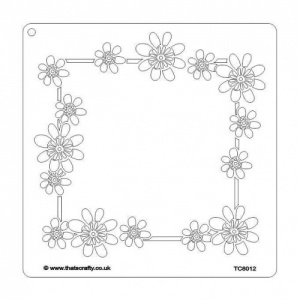 That's Crafty! 8ins x 8ins Stencil - Daisy Frame - TC8012