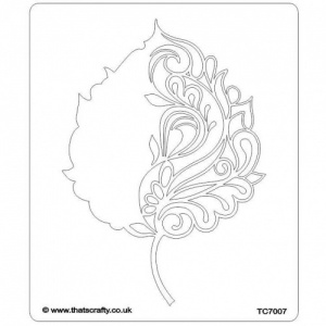 That's Crafty! 6.5ins x 7.5ins Stencil - Decorative Leaf - TC7007
