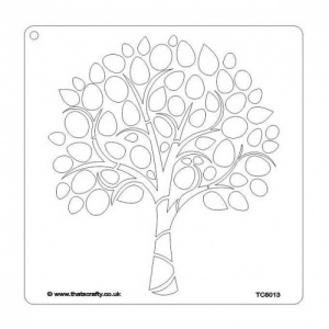 That's Crafty! 8ins x 8ins Stencil - Decorative Tree - TC8013