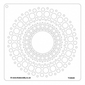 That's Crafty! 8ins x 8ins Stencil - Dot Circle - TC8025