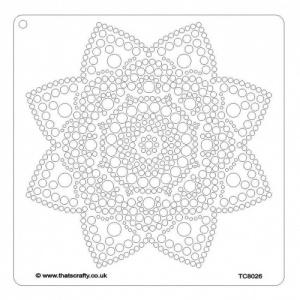 That's Crafty! 8ins x 8ins Stencil - Dot Mandala - TC8026