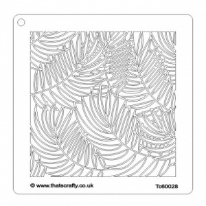 That's Crafty! 6ins x6ins Stencil - Ferns - TC60028
