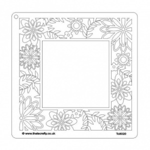 That's Crafty! 8ins x 8ins Stencil - Flower Border - TC8020