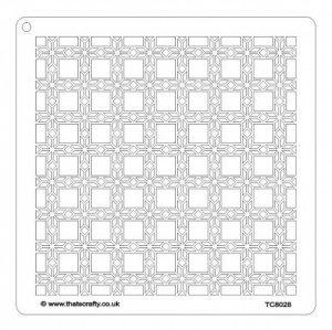 That's Crafty! 8ins x 8ins Stencil - Flower Grid - TC8028