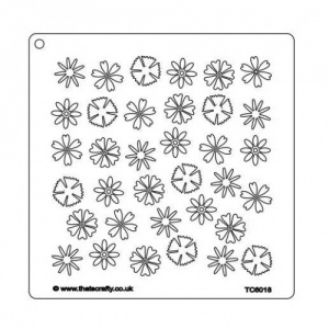 That's Crafty! 7ins x 7ins Stencil - Flowers - TC6018