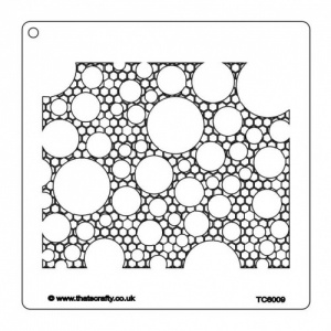 That's Crafty! 7ins x 7ins Stencil - Honeycomb Circles - TC6009