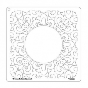 That's Crafty! 8ins x 8ins Stencil - Lace Background - TC8011
