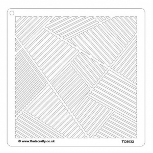 That's Crafty! 8ins x 8ins Stencil - Lots of Lines - TC8032