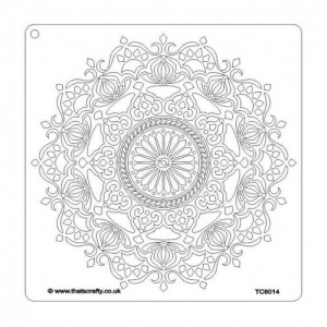 That's Crafty! 8ins x 8ins Stencil - Mandala - TC8014