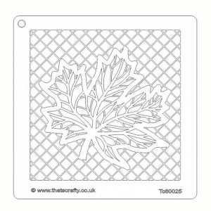 That's Crafty! 6ins x6ins Stencil - Maple Leaf Net - TC60026