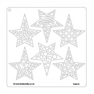 That's Crafty! 8ins x 8ins Stencil - Stars - TC8018