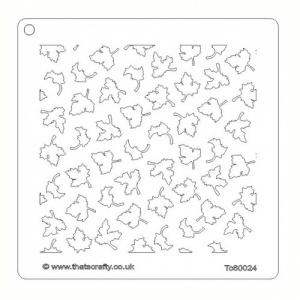 That's Crafty! 6ins x6ins Stencil - Tiny Leaves - TC60024