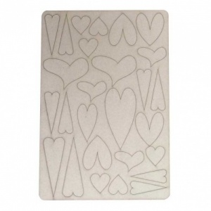 That's Crafty! Surfaces Bits and Pieces Greyboard Sheet - Hearts
