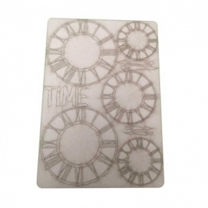 That's Crafty! Surfaces Bits and Pieces Greyboard Sheet - Large Grunge Clocks