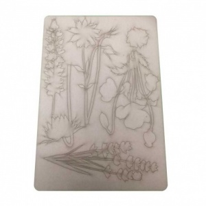 That's Crafty! Surfaces Bits and Pieces Greyboard Sheet - Large Wildflowers