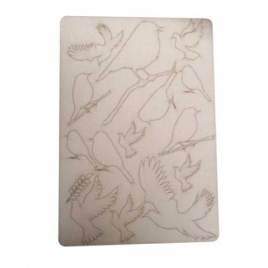 That's Crafty! Surfaces Bits and Pieces Greyboard Sheet - Robins and Doves