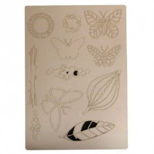 That's Crafty! Surfaces Craftyboard - Butterflies and Leaves