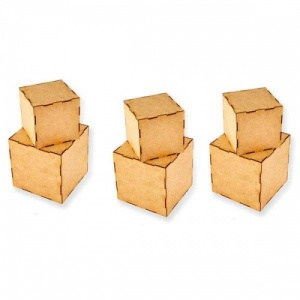 That's Crafty! Surfaces MDF Artist Trading Blocks - 3'' x 3'' & 4'' x 4''