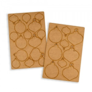 That's Crafty! Surfaces MDF Baubles Set