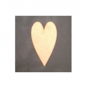 That's Crafty! Surfaces MDF Hearts - Pack of 12 - 2x3.5