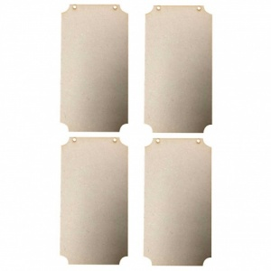 That's Crafty! Surfaces MDF Plaques - Pack of 4