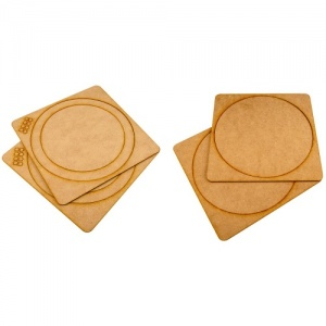 That's Crafty! Surfaces MDF Porthole - Set of 2