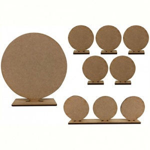 That's Crafty! Surfaces MDF Round Uprights - Pack of 7 assorted