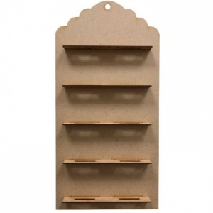 That's Crafty! Surfaces MDF ATCoins Display - Scallop Tag Top
