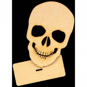 That's Crafty! Surfaces MDF Uprights - Skull - Pack of 3