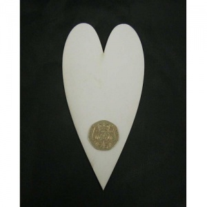 That's Crafty! Surfaces White/Greyboard Hearts - Pack of 12 - #5