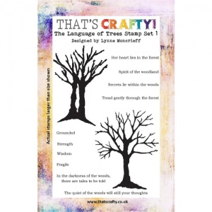 That's Crafty! Clear Stamp Set - The Language of Trees Set 1