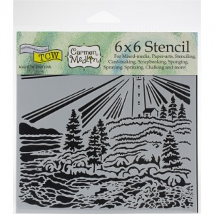 Crafter's Workshop Stencil - Lighthouse - TCW916S