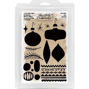 Tim Holtz Idea-ology Cling Foam Stamps - Christmas Ornaments