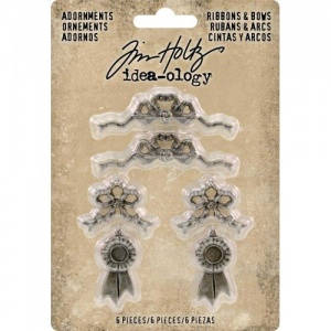 Tim Holtz Idea-ology Metal Adornments - Ribbons and Bows