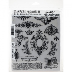 Tim Holtz Cling Mounted Stamp Set - Urban Elements - CMS398
