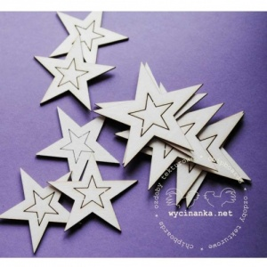 Wycinanka Chipboard - 2 in 1 Stars