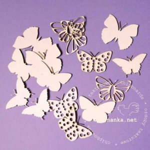 Wycinanka Chipboard - Butterflies 2