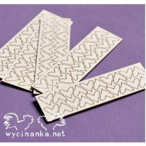 Wycinanka Chipboard - Tiny Hearts 2