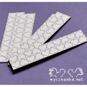 Wycinanka Chipboard - Tiny Hearts 3