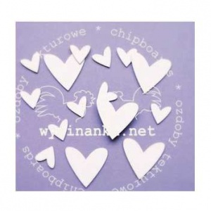 Wycinanka Chipboard - Hearts